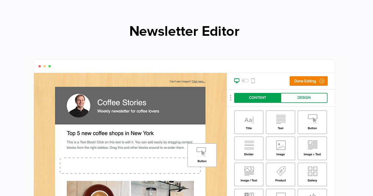 Create Email Newsletter Drag And Drop Editor Mailerlite