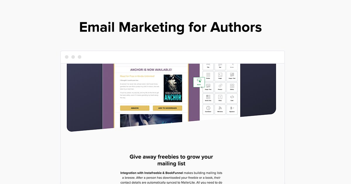 Email Marketing for Authors - MailerLite