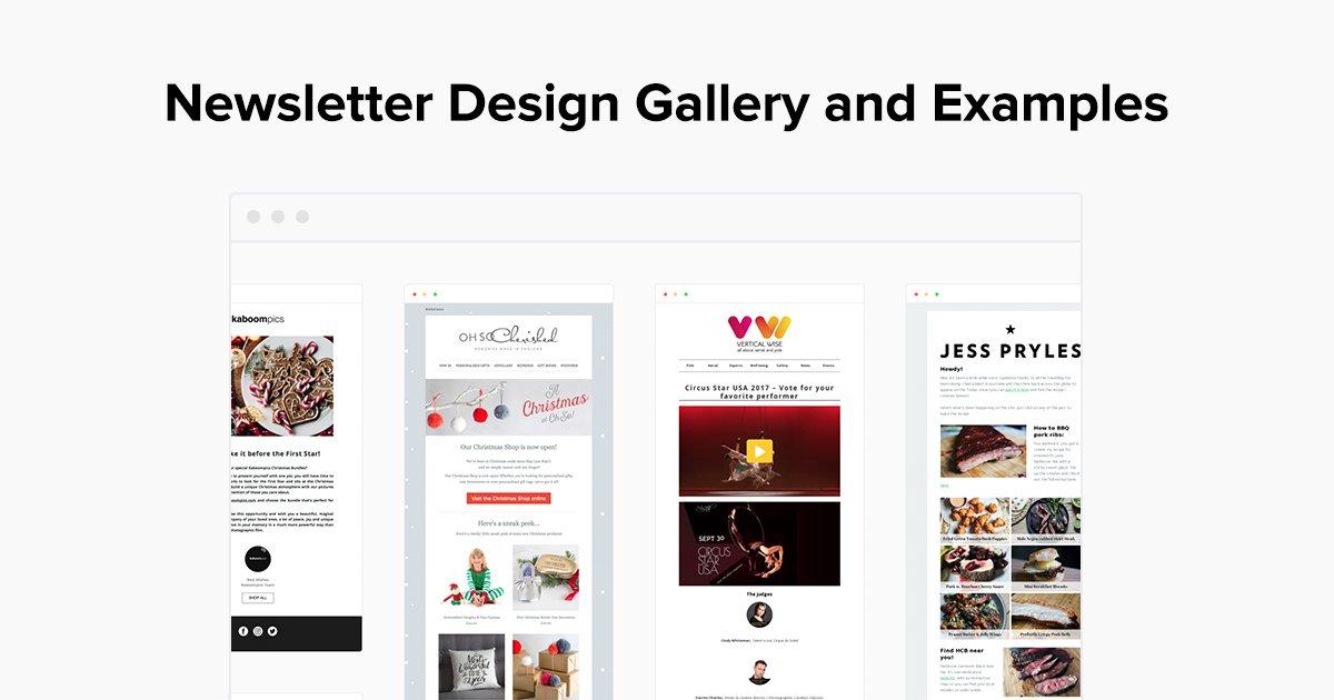 email newsletter design examples gallery mailerlite