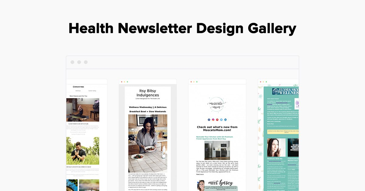 1463c015f72 Health Email Newsletter Examples - Gallery - MailerLite