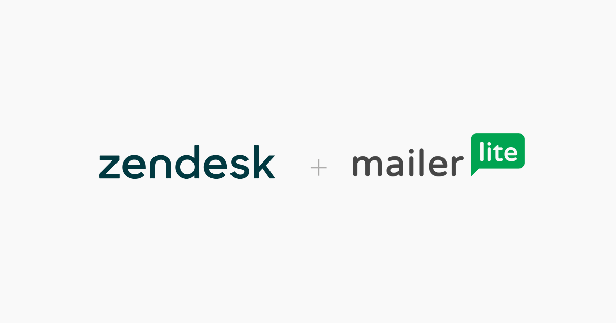 Email Marketing Integration Zendesk - MailerLite