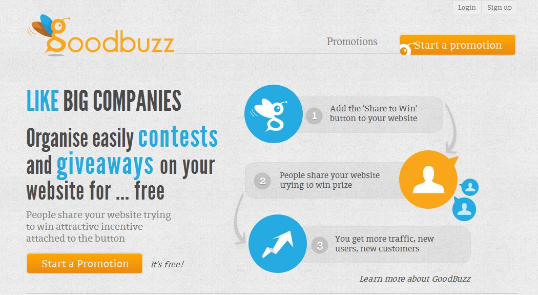 Organize giveaways like big companies for social marketing
