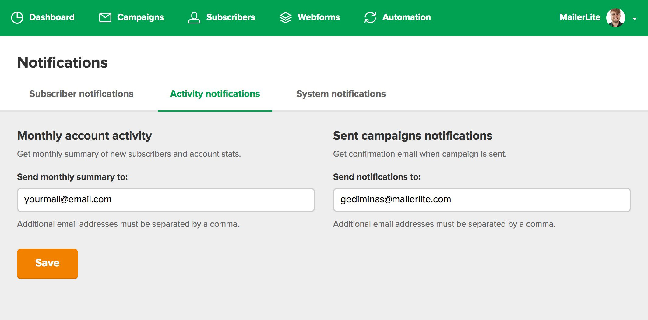 Get a notification after your campaign is sent