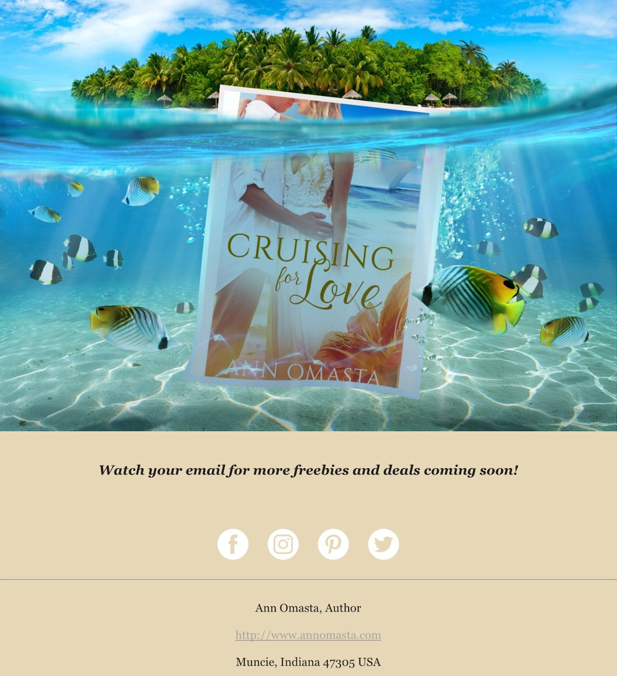 Author Ann Omasta Email newsletter Example