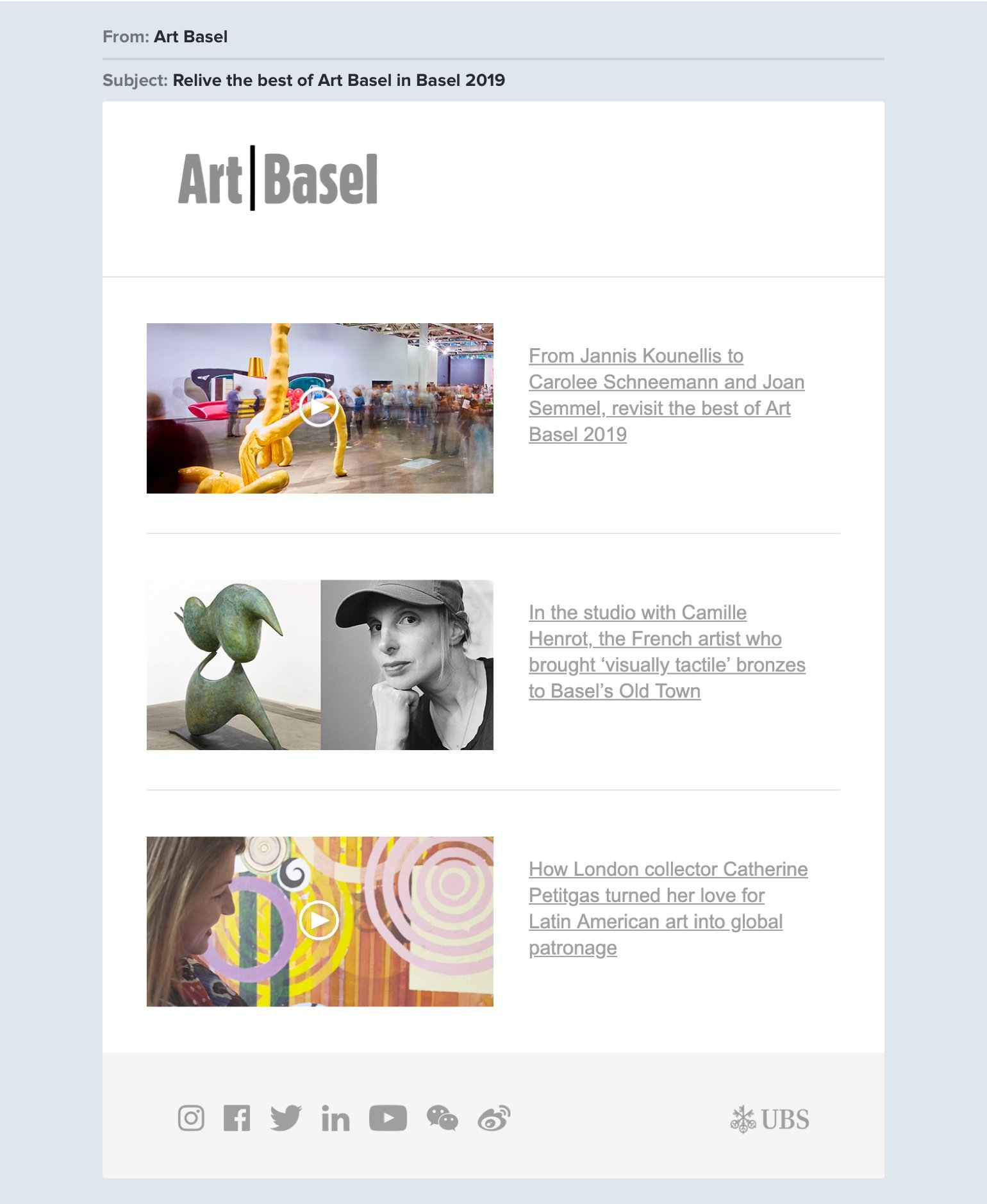 Art Basel newsletter
