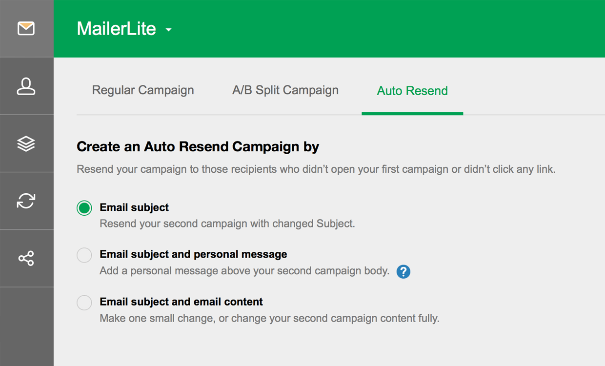 how auto resend feature works mailerlite