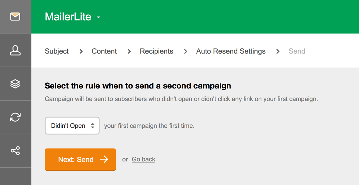 how auto resend feature works mailerlite #2