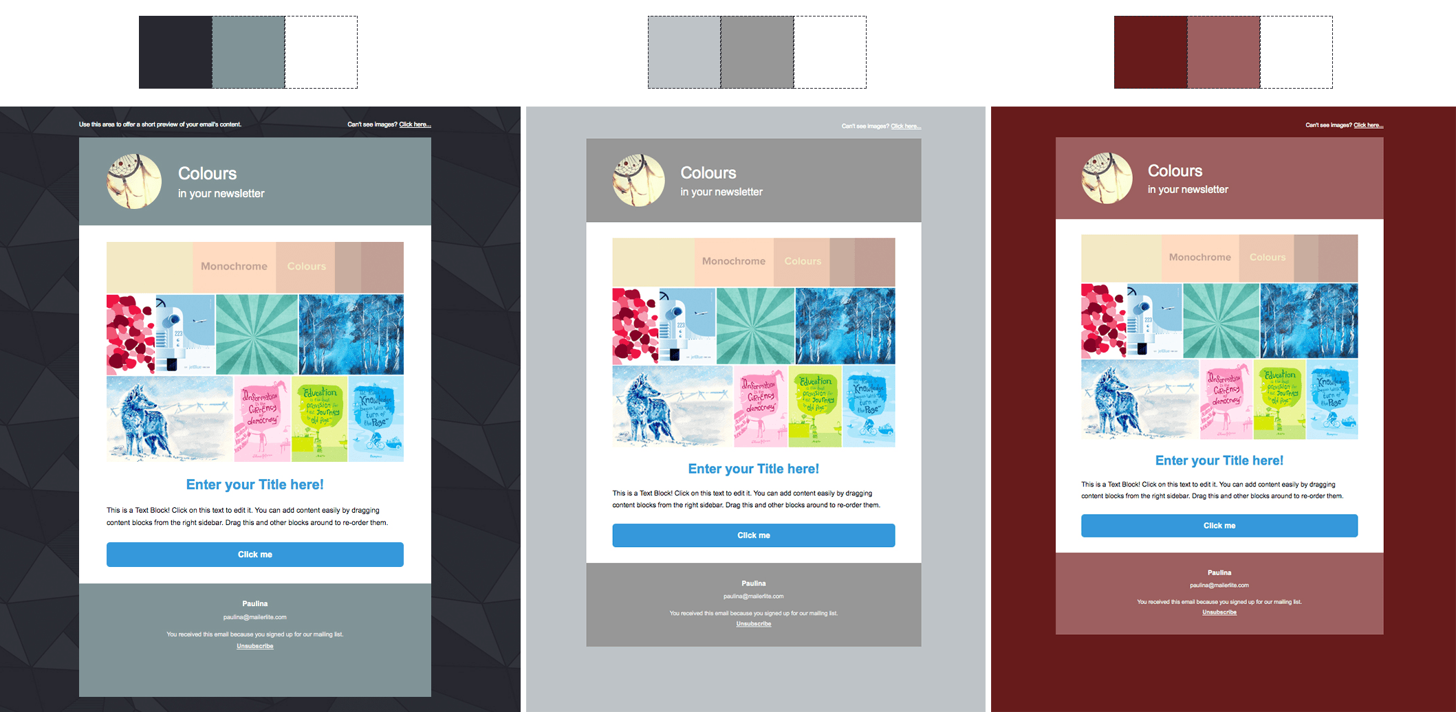 how to choose newsletter background colours