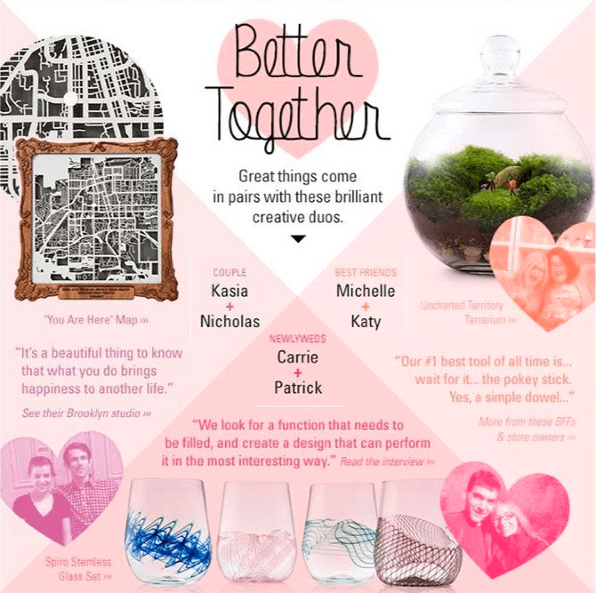 better together valentines day email pink couples - MailerLite