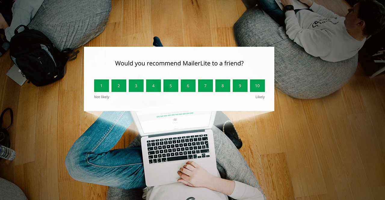 what does a net promoter score email survey look like - MailerLite
