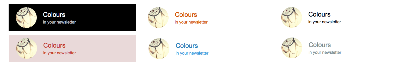 text colours for email newsletter