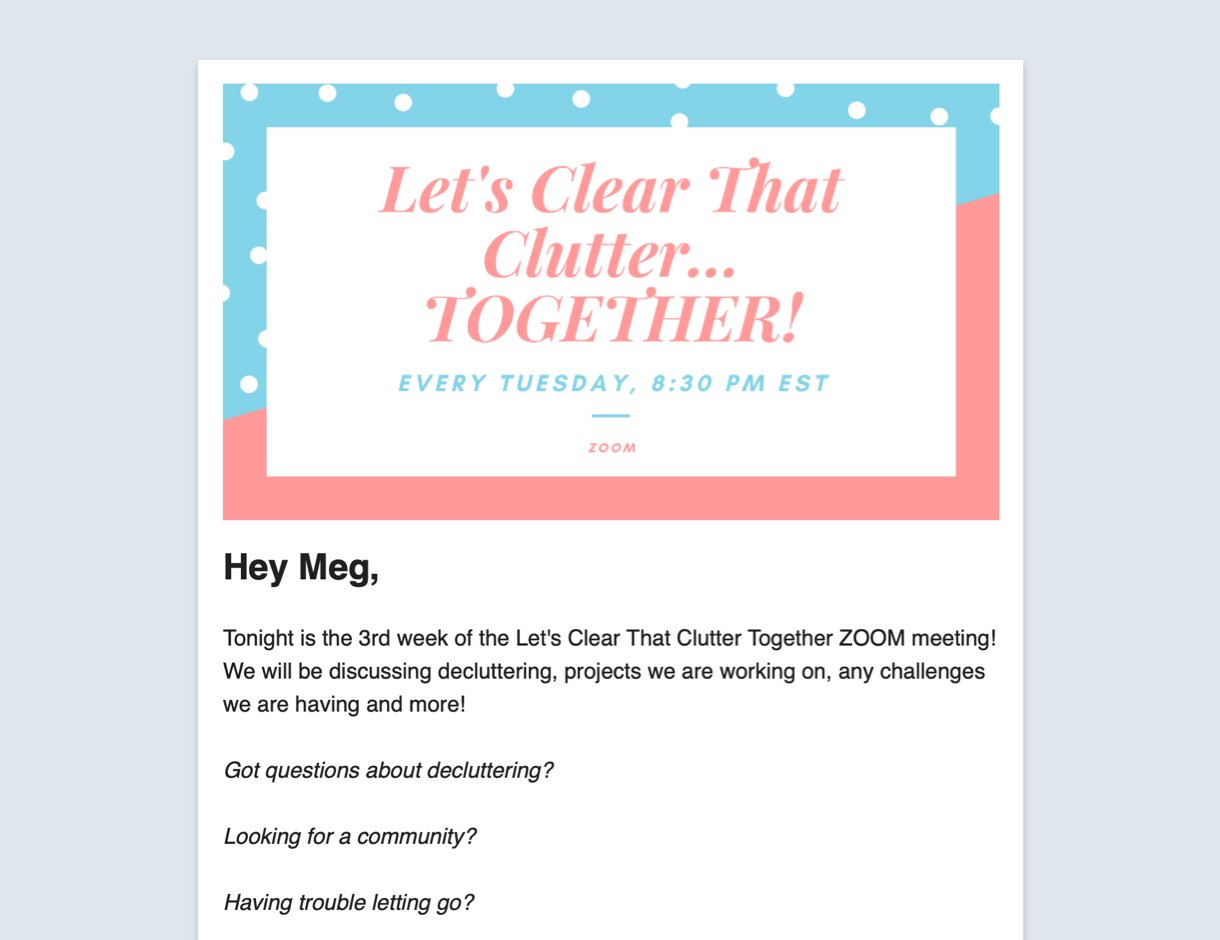Personalization email example image and text