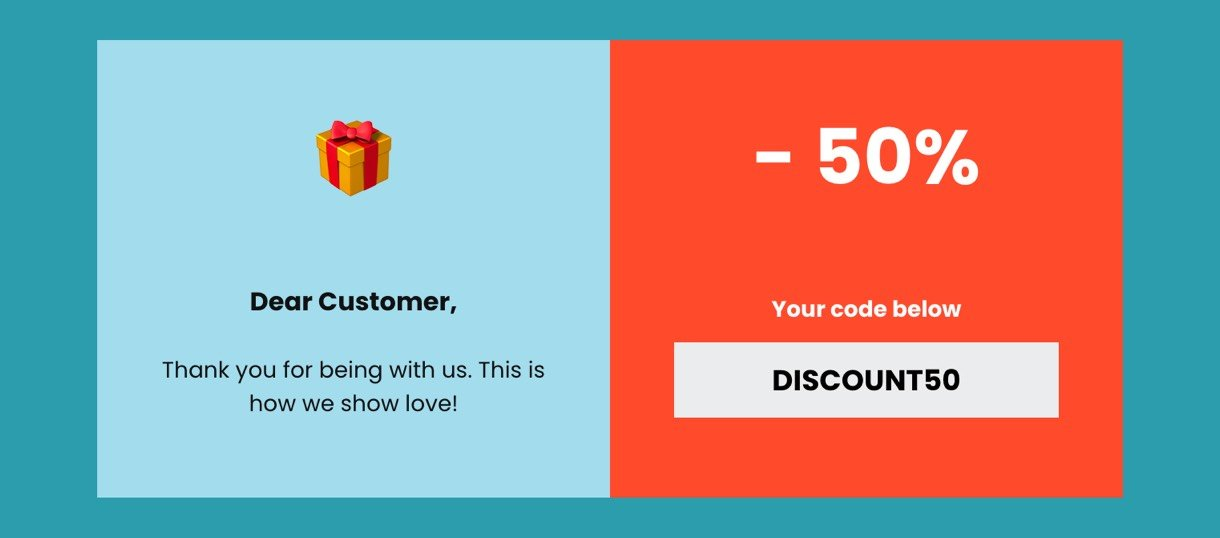 Coupon feature in MailerLite