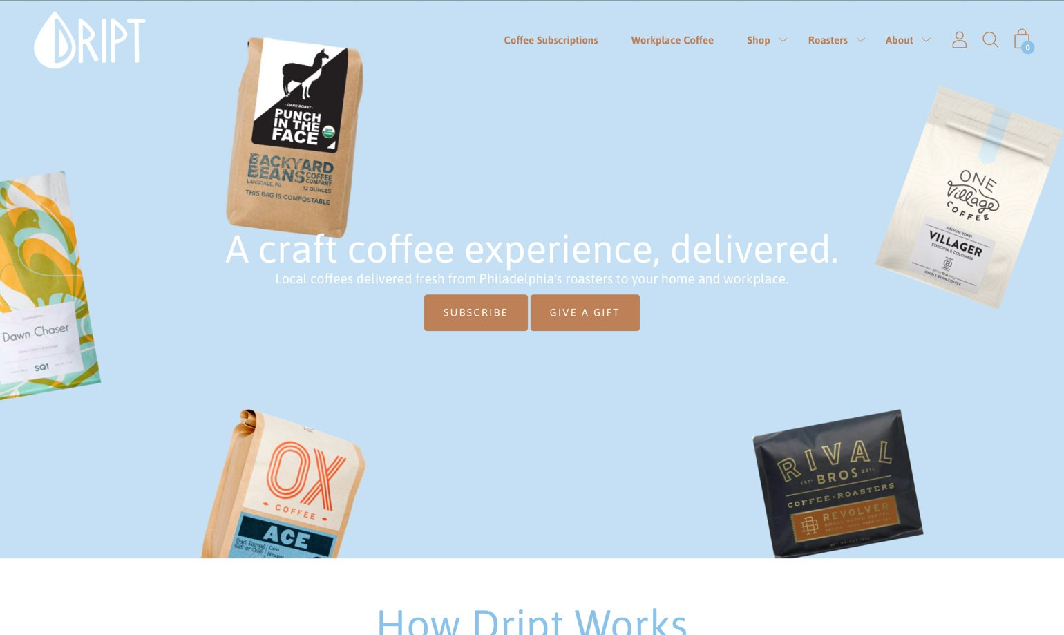 Drink dript website example