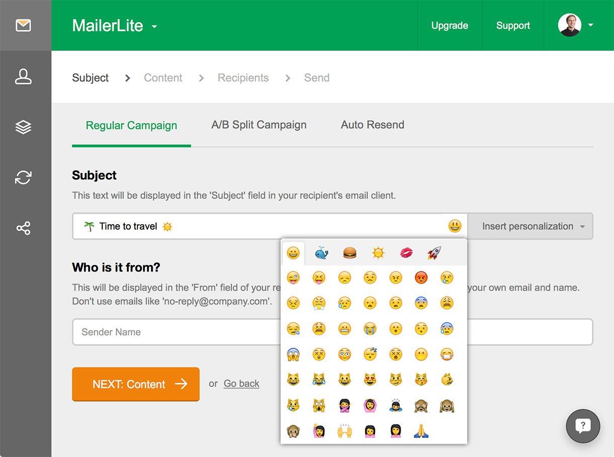 Express yourself with Emoji! - MailerLite