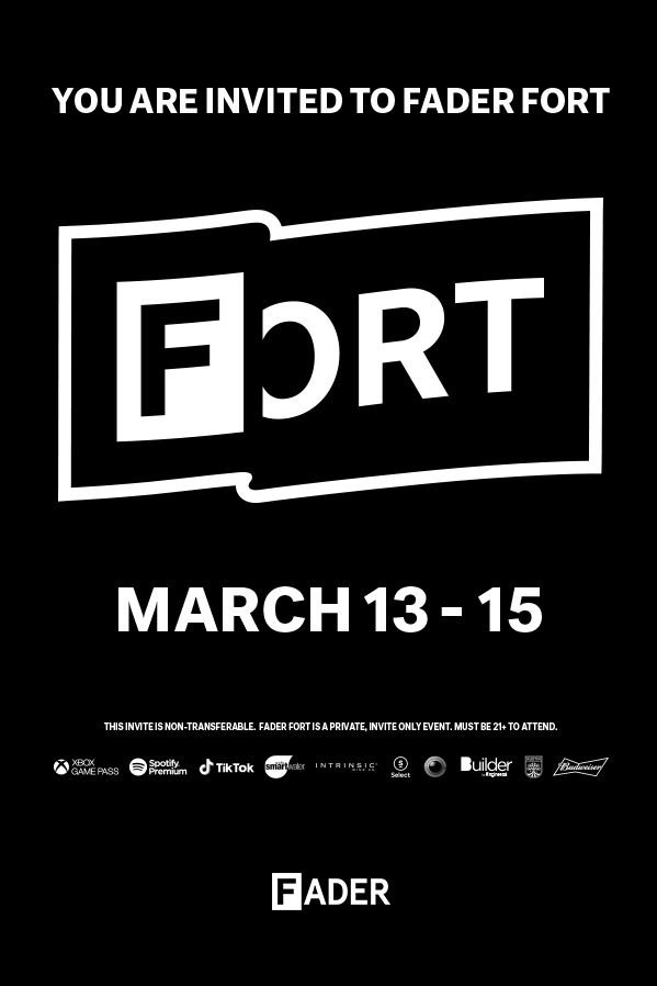 Event newsletter - Fader Fort invitation example