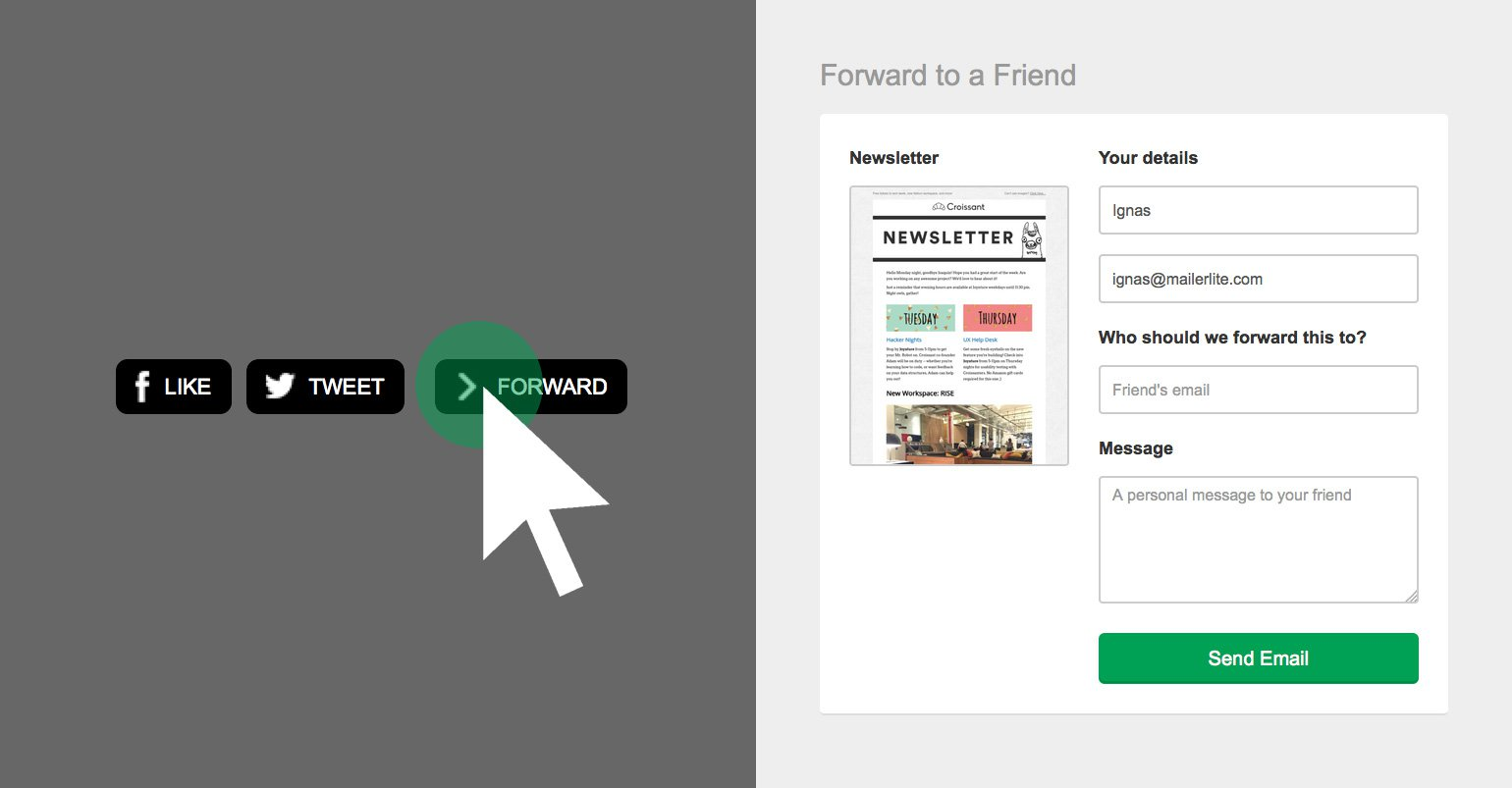 New Feature: Forward to a Friend