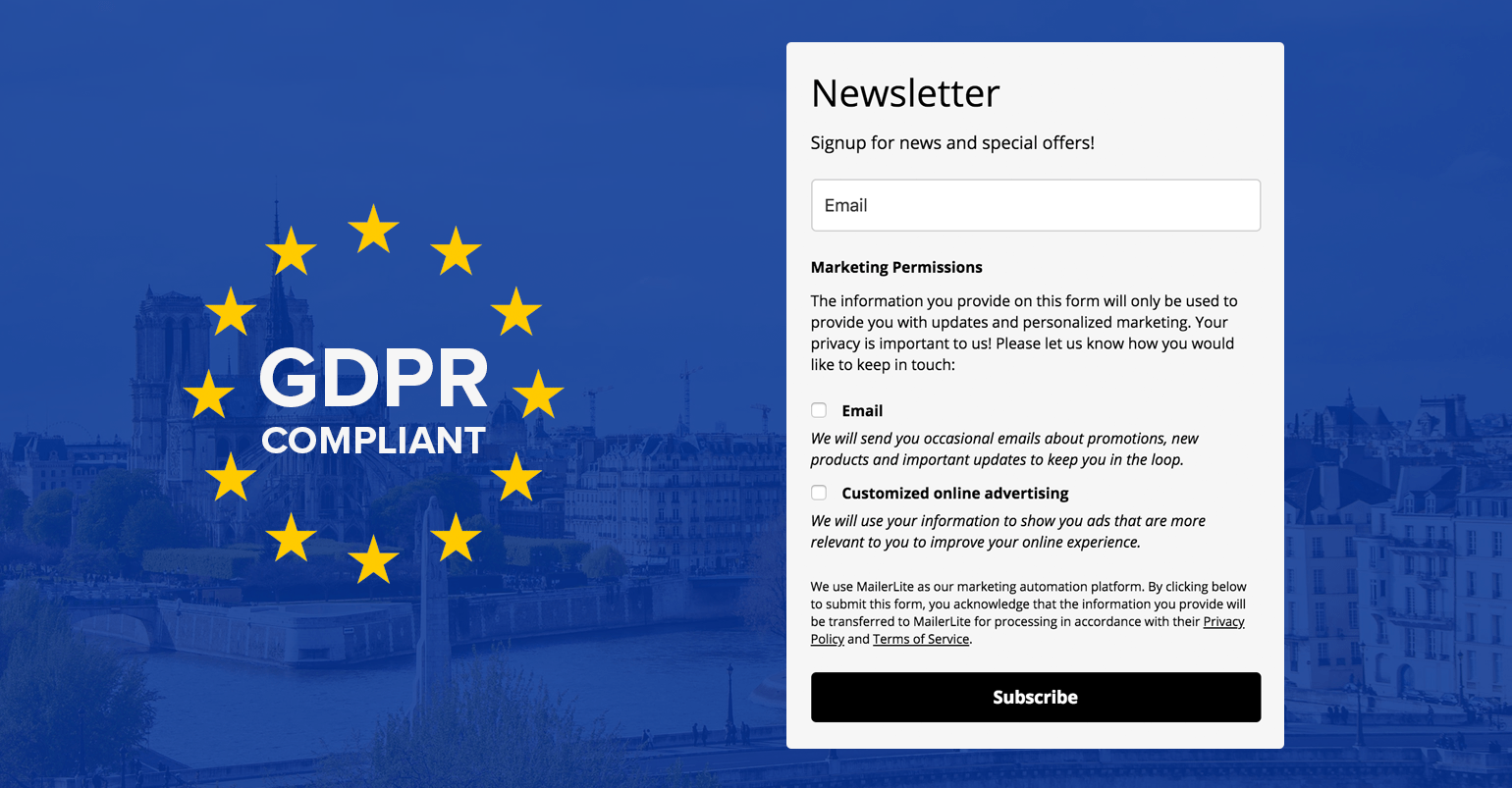 New MailerLite GDPR Features (Part 2 of 3): Opt-in Forms