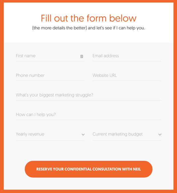 subscriber list building - contact form