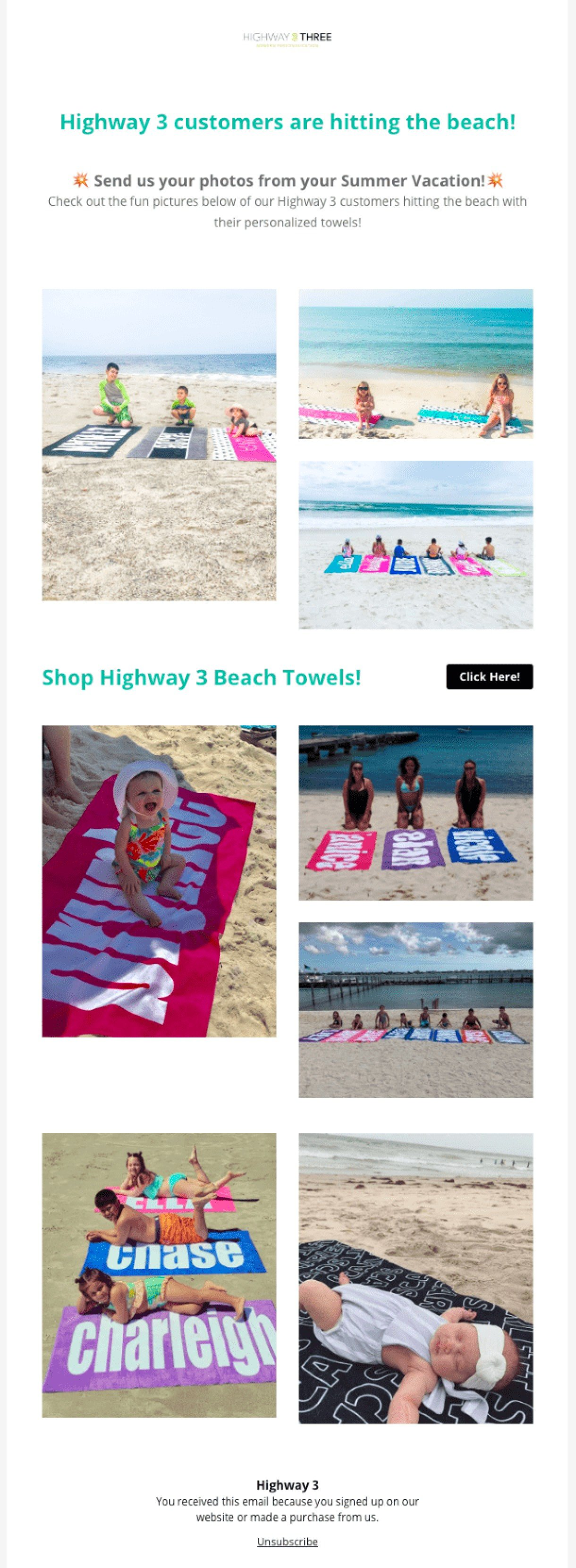 Highway 3 newsletter with user generated content