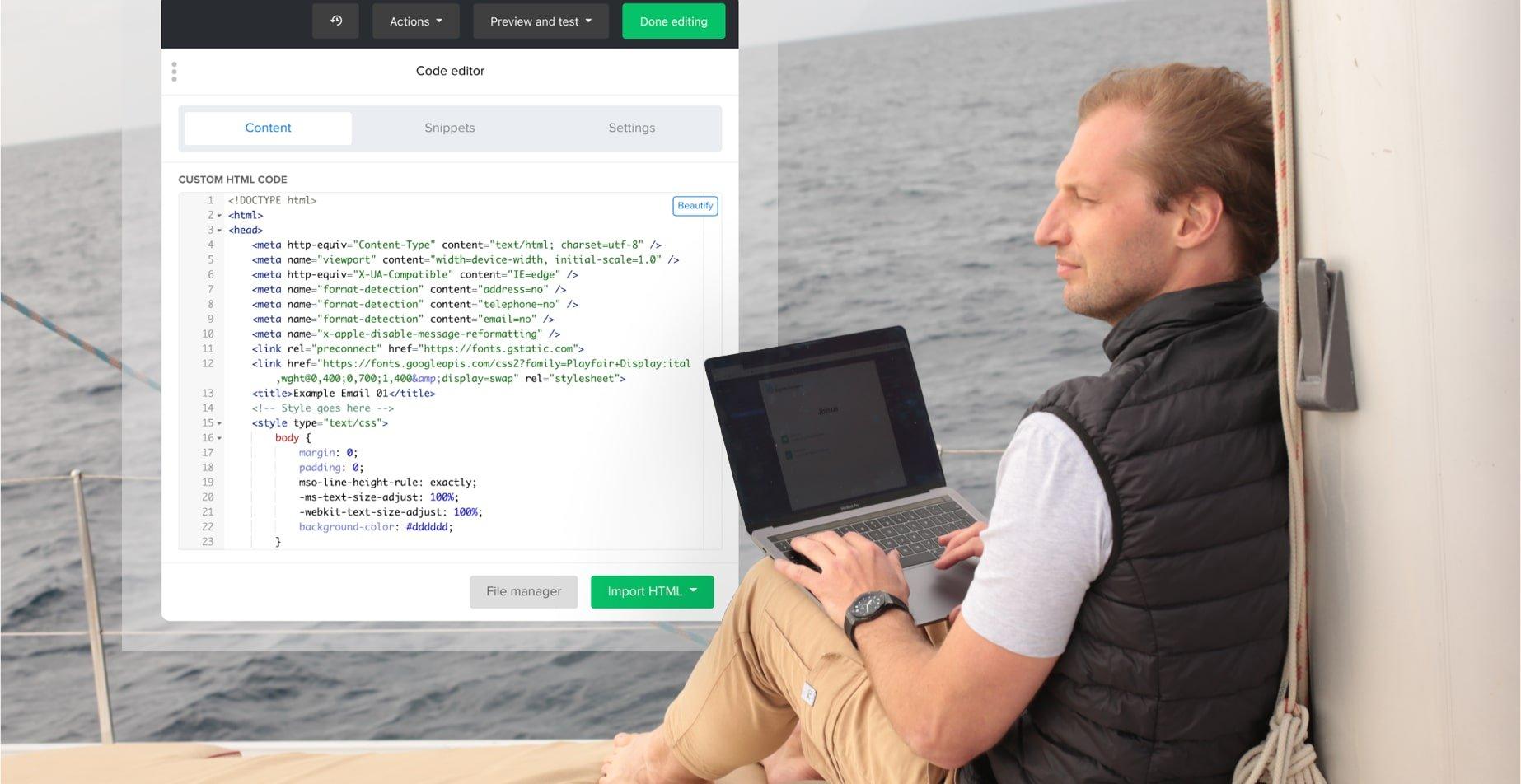 Presentamos el nuevo y mejorado editor HTML personalizado