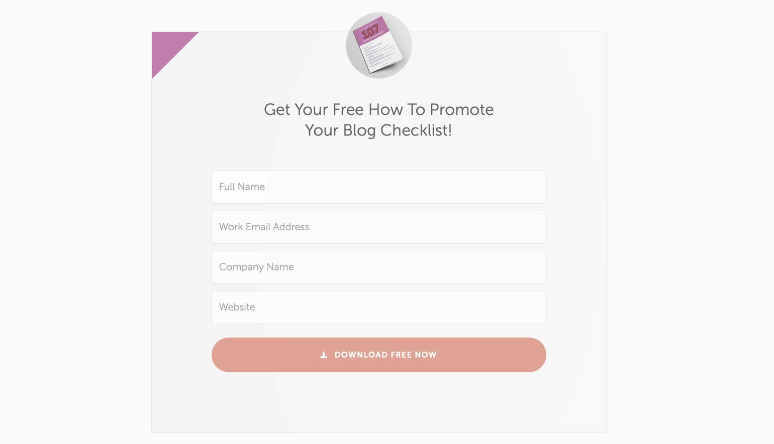 Coschedule lead magnet example