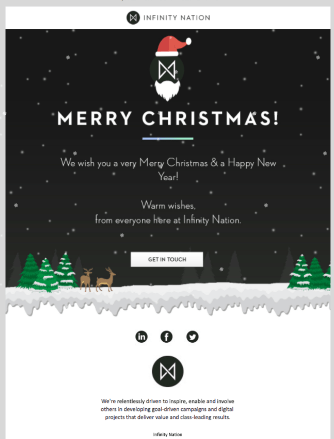 christmas email marketing social sharing
