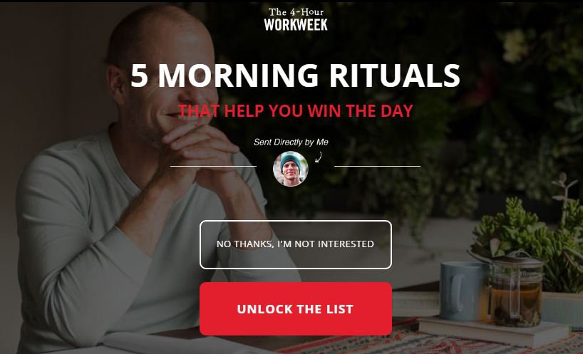 tim ferris pop-up example