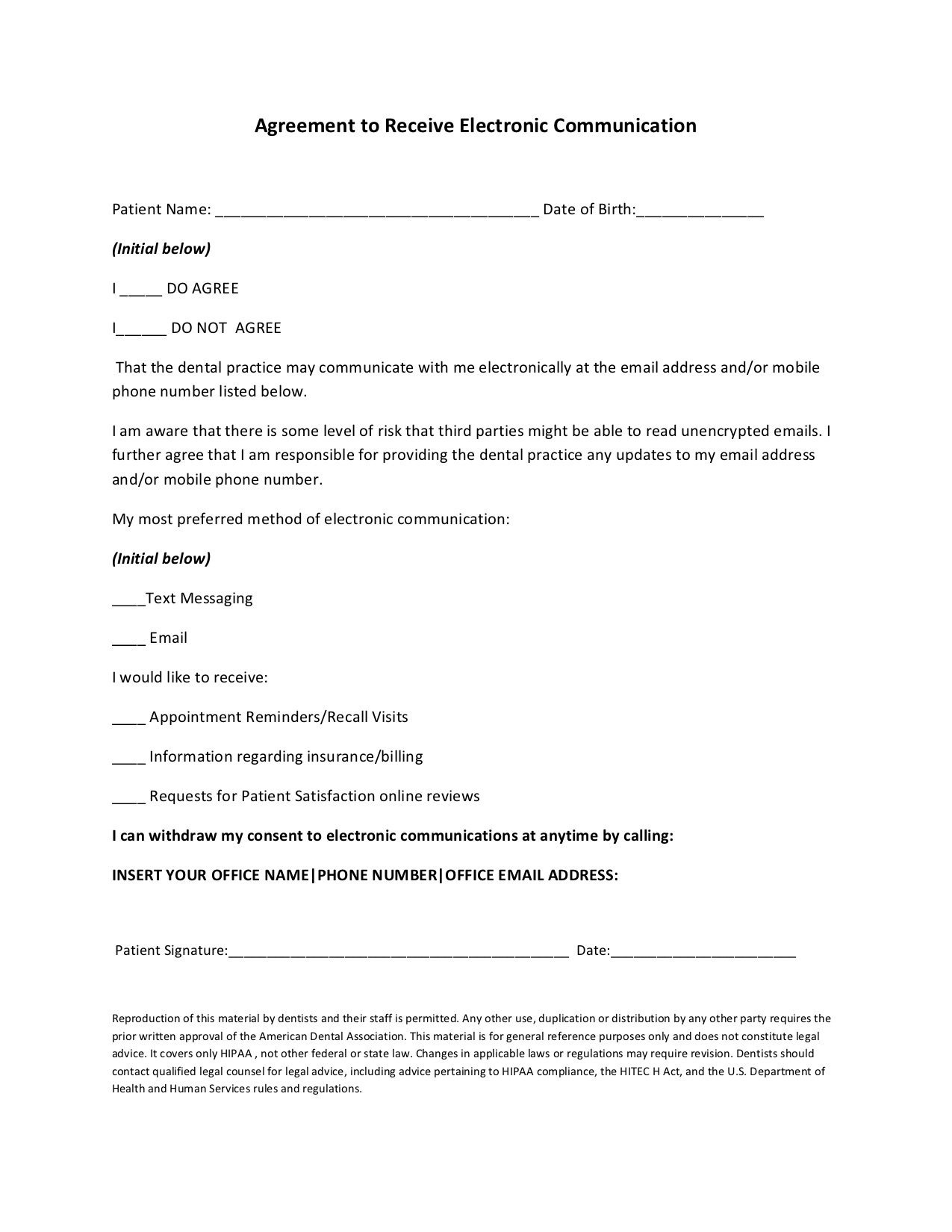 medical signup form gdpr example