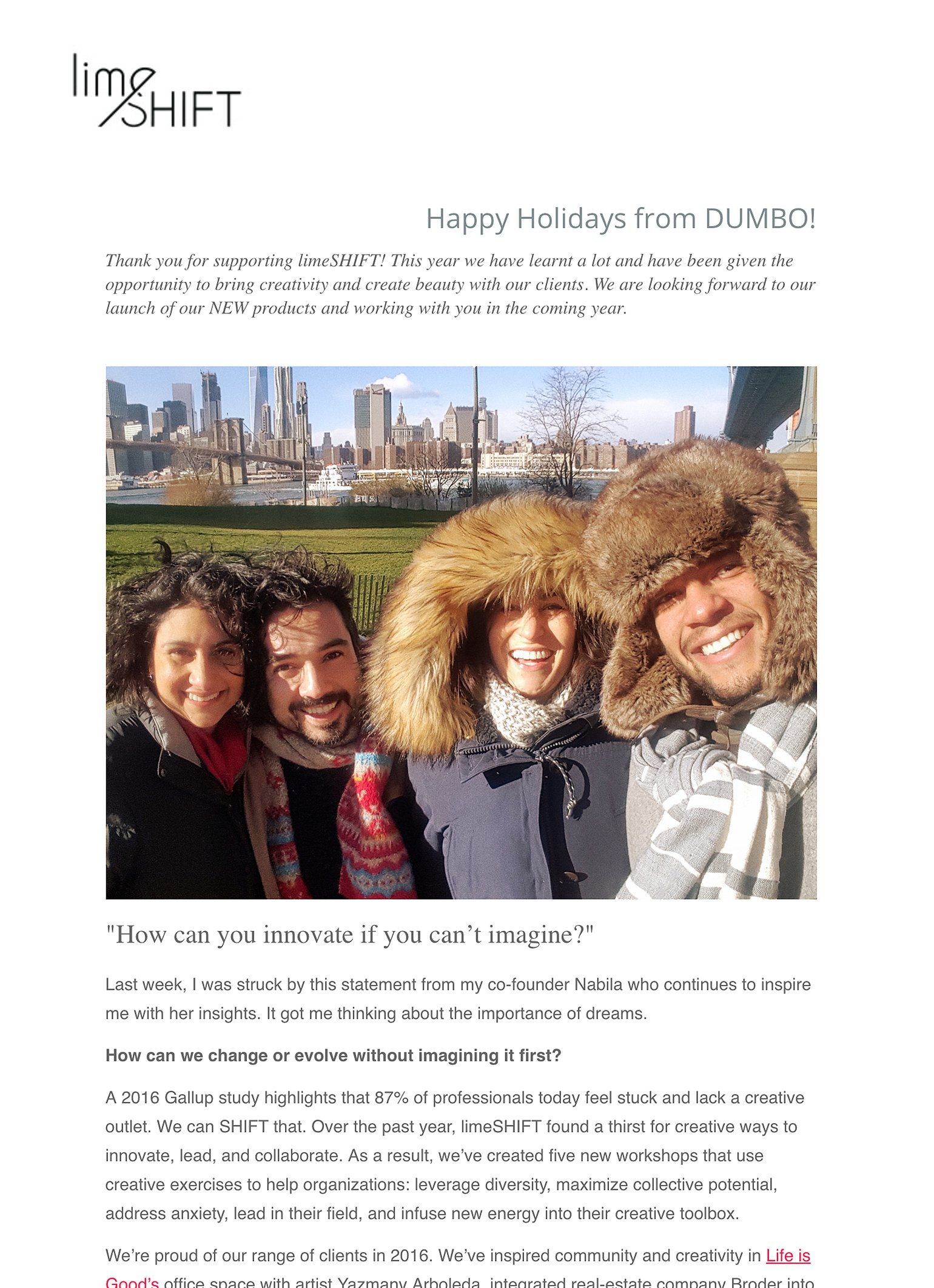 Holiday Email Marketing be grateful