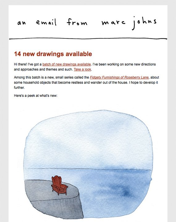 Marc Johns newsletter