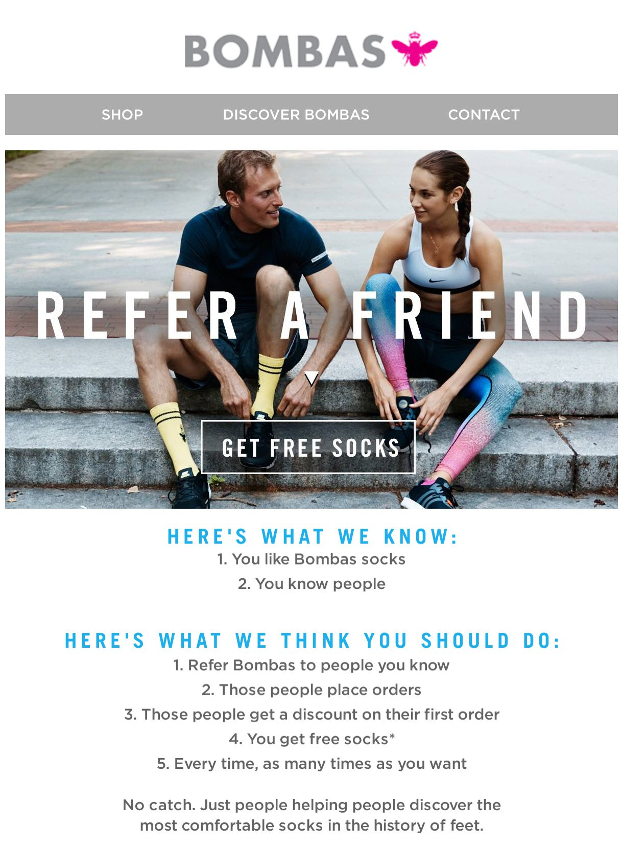 Refer a friend email example - email marketing MailerLite