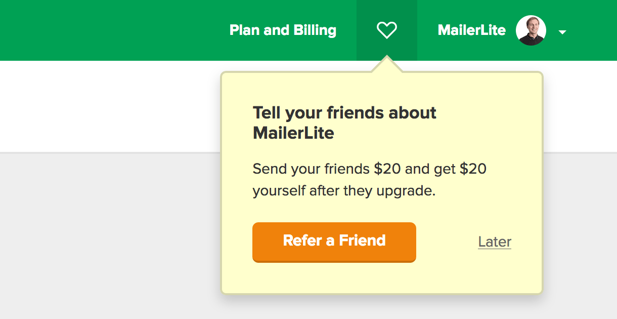 refer a friend program with MailerLite - how it works