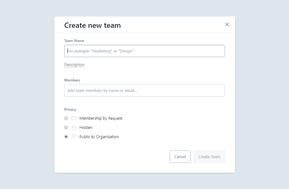 creating separate teams on asana additional details