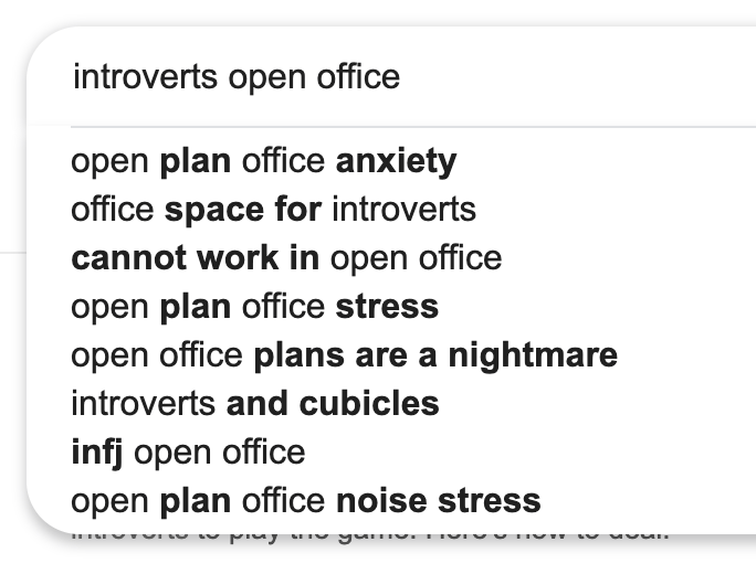 introverts in open office
