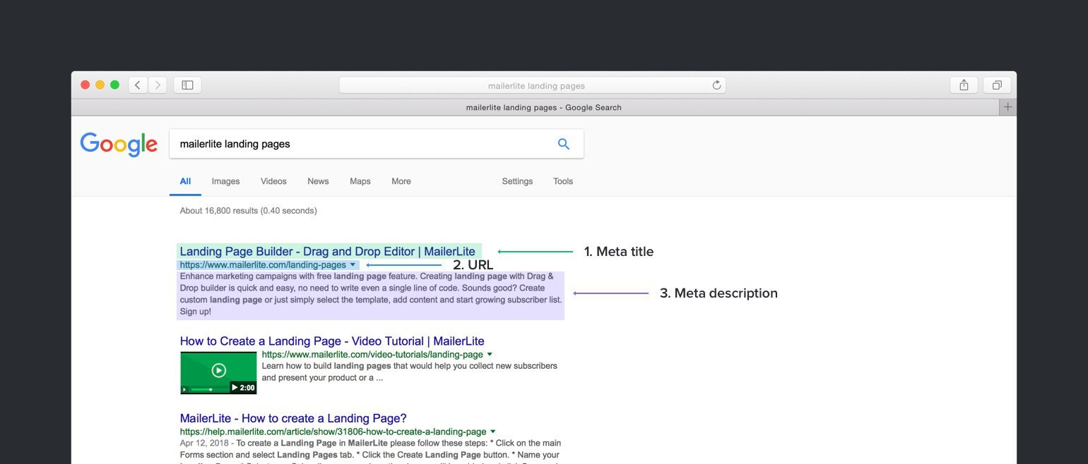 how does search snippet looks like? - MailerLite