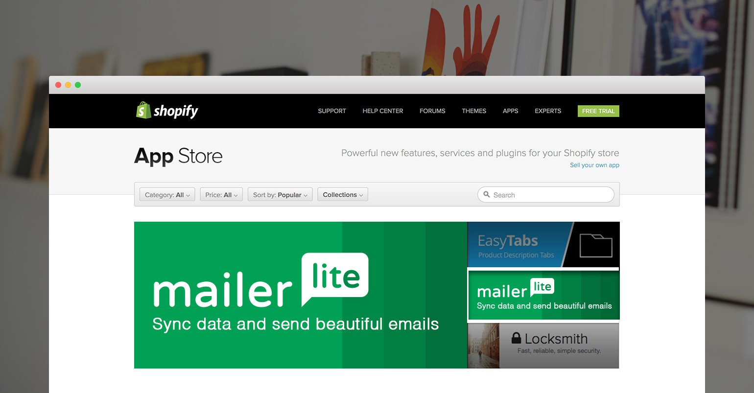 Announcing MailerLite App for Shopify