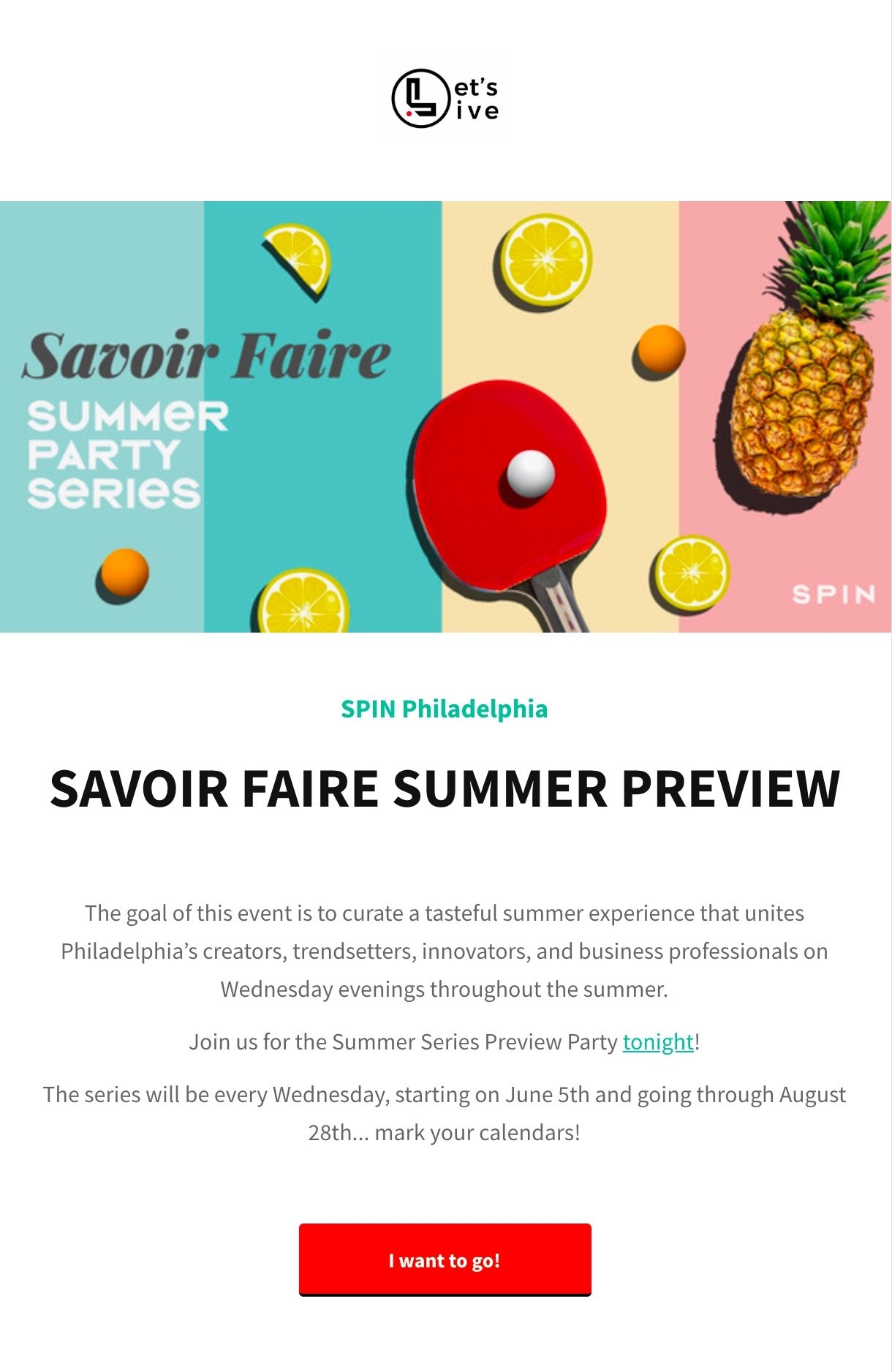 SPIN Philadelphia newsletter