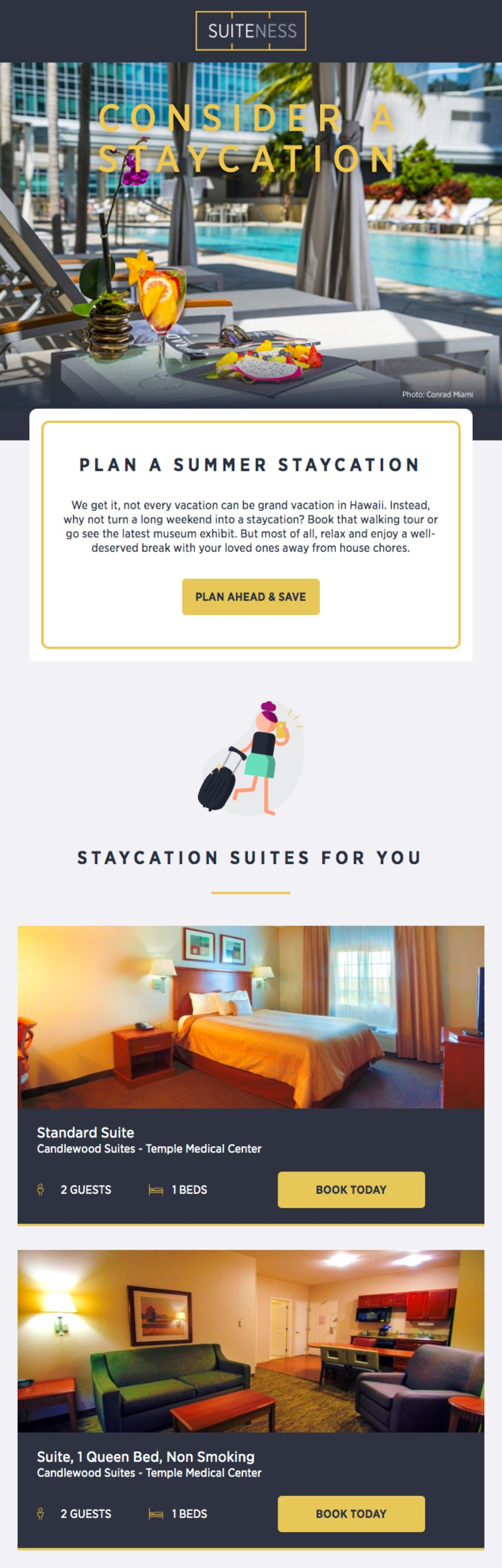 Suiteness hotel newsletter example