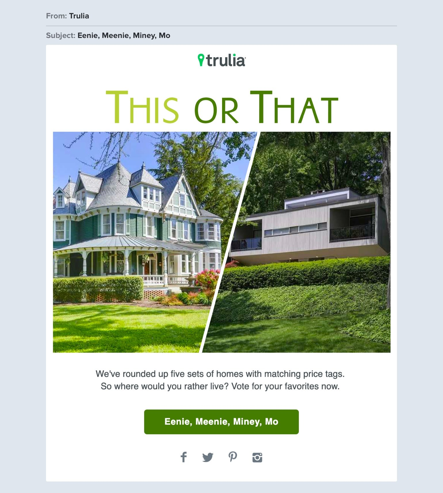 Trulia real estate email example