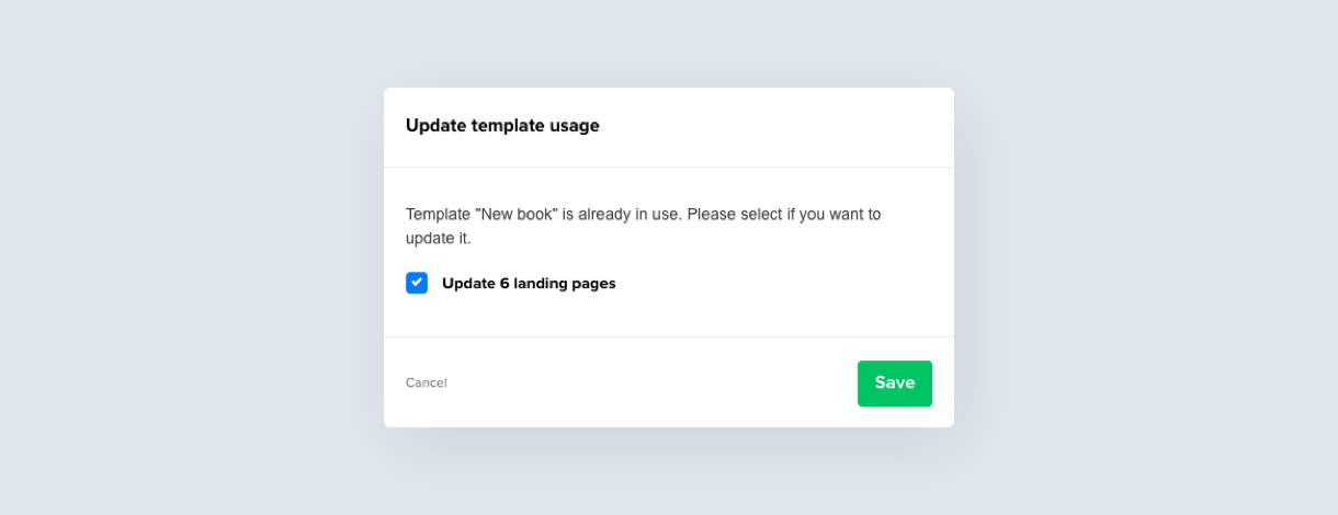 Updating a template in MailerLite