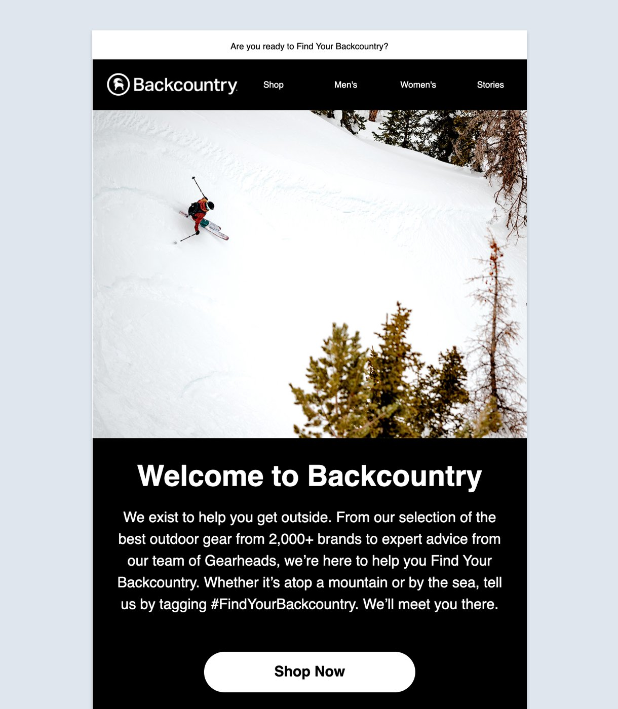 Welcome to Backcountry