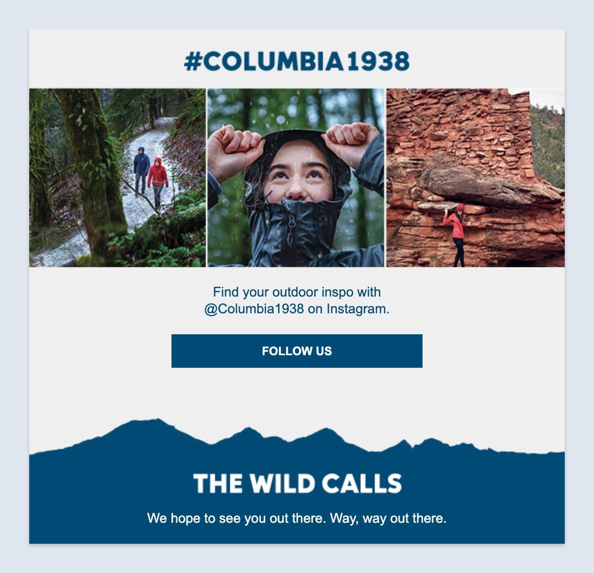 Columbia email newsletter