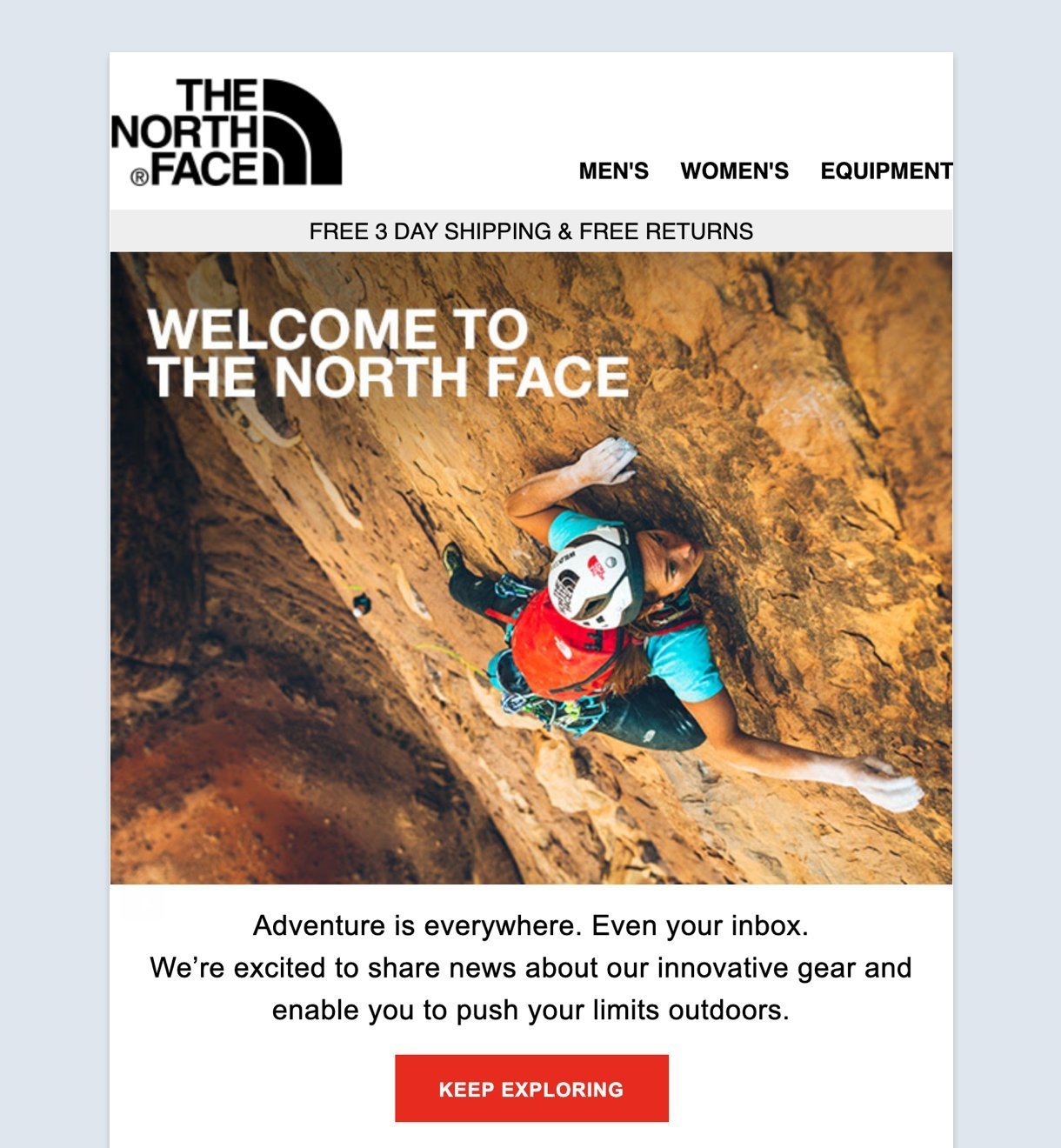 Welcome to the North Face