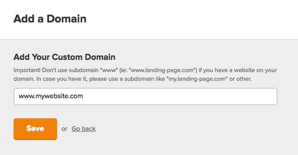 Custom Domain - landing page settings - MailerLite