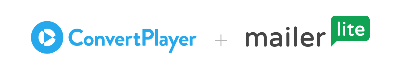 ConvertPlayer and MailerLite - email marketing service provider - integration