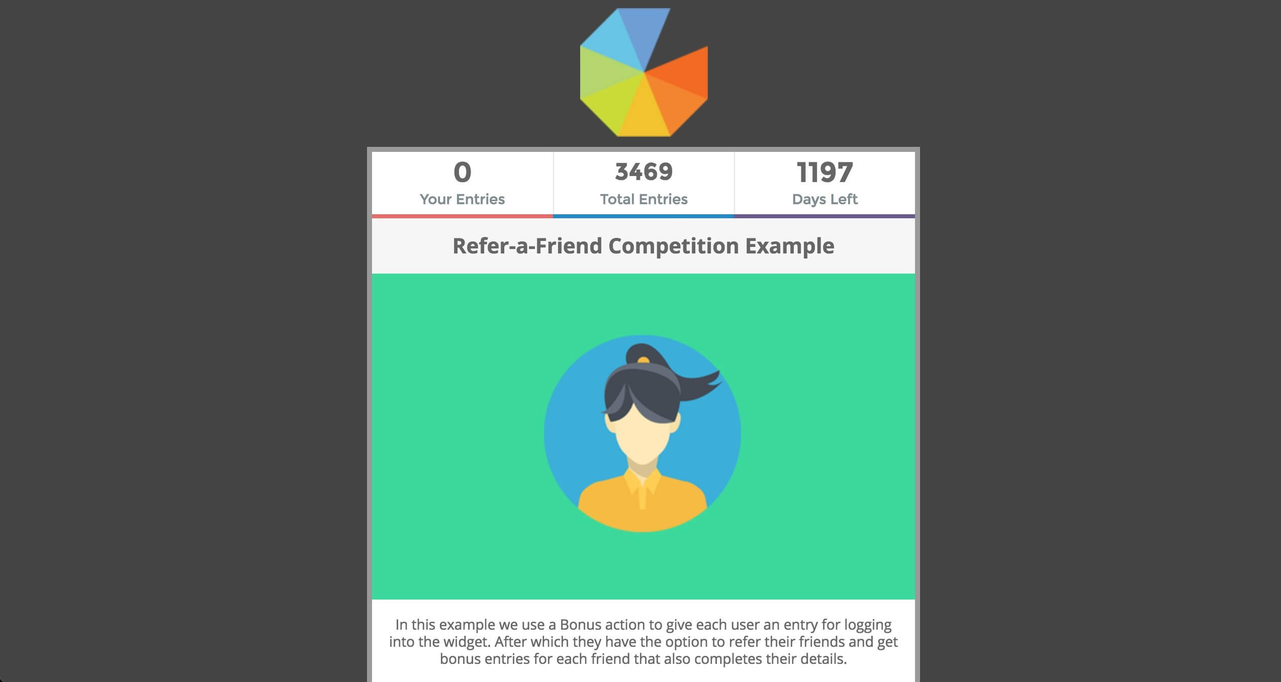 Gleam refer a friend competition example